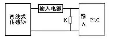 PLC与两线式传感器的连接